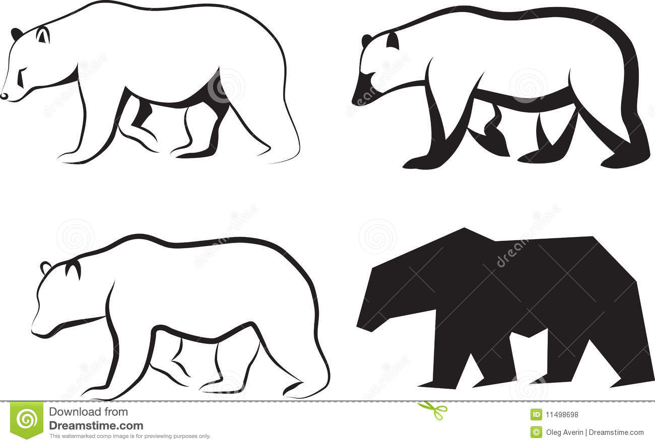 Vector Illustration Bear Stock Vector Image Of