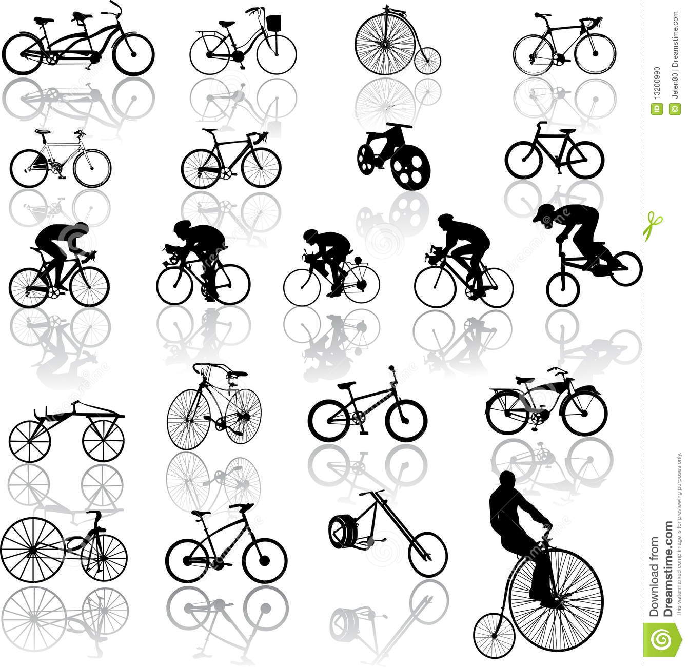 Vector Illustration Of Bicycles Stock Illustration
