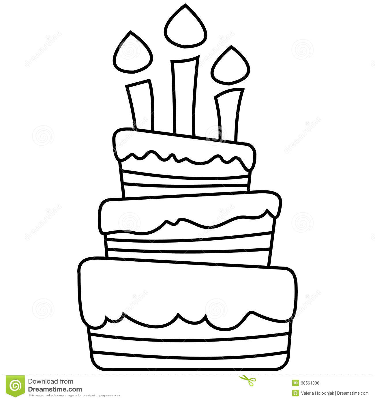 Vector Illustration Of Birthday Cake Royalty Free Stock