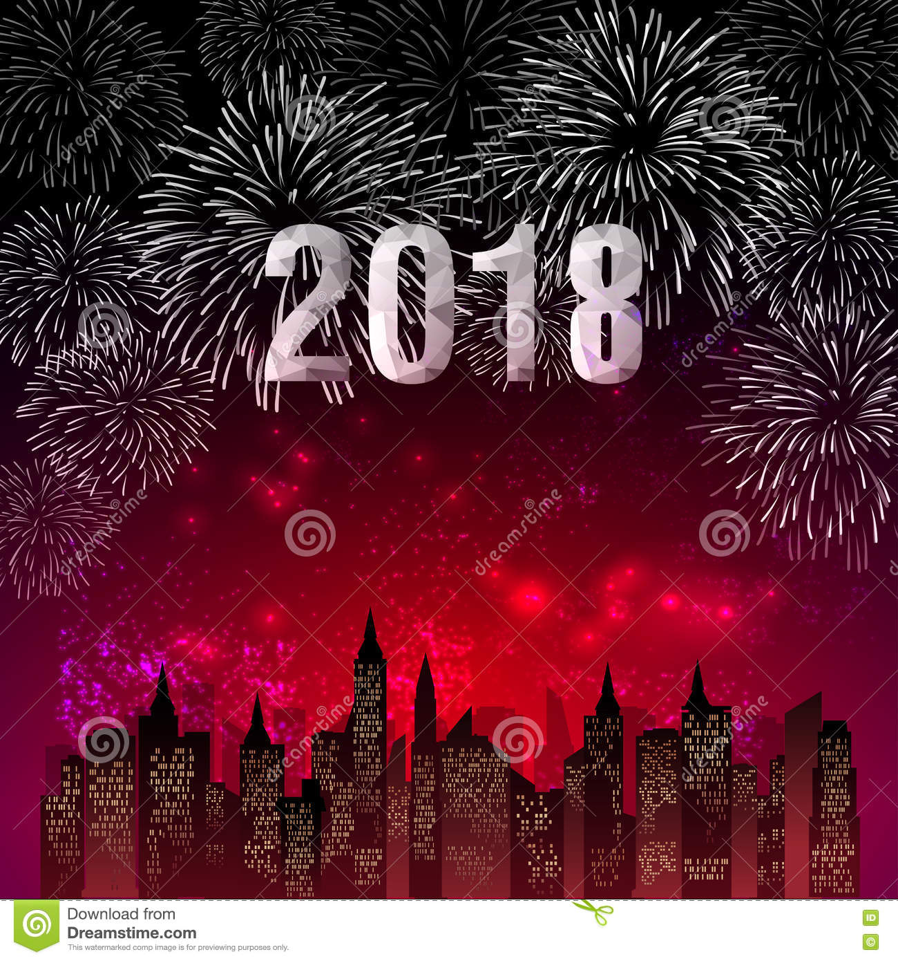 firework new year themes