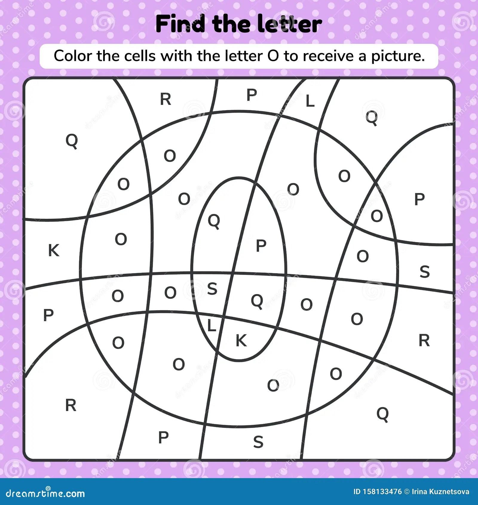 Vector Illustration Coloring Book Letter For Kids