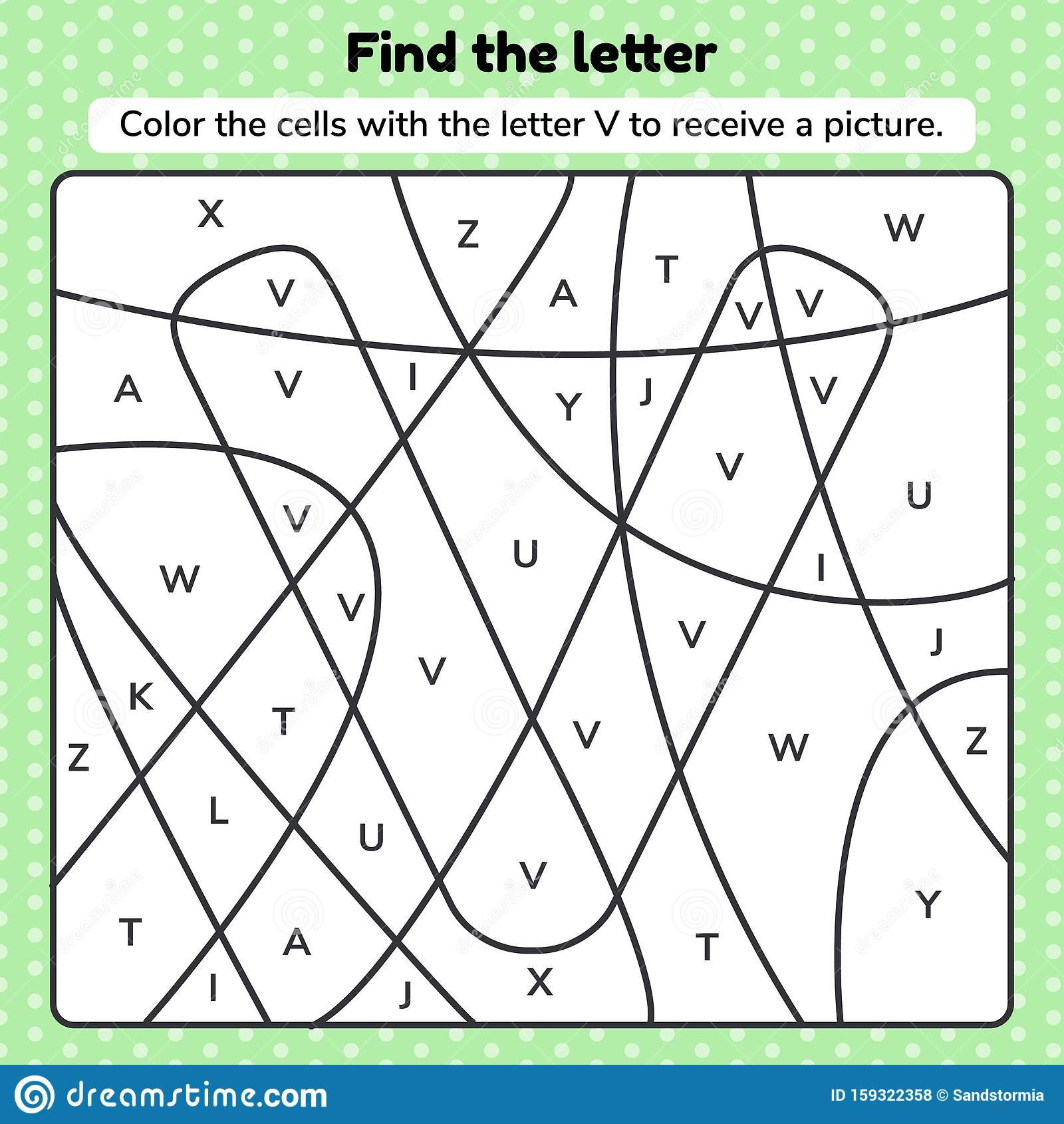 Coloring Book Letter For Kids Worksheet For Preschool