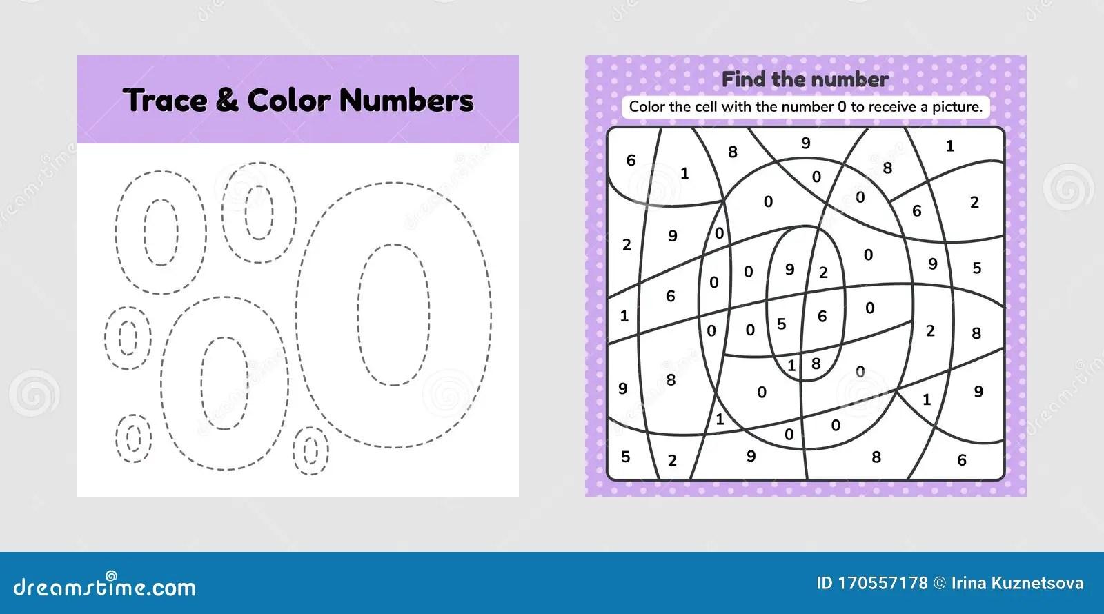 Coloring Book Number For Kids Worksheet For Preschool