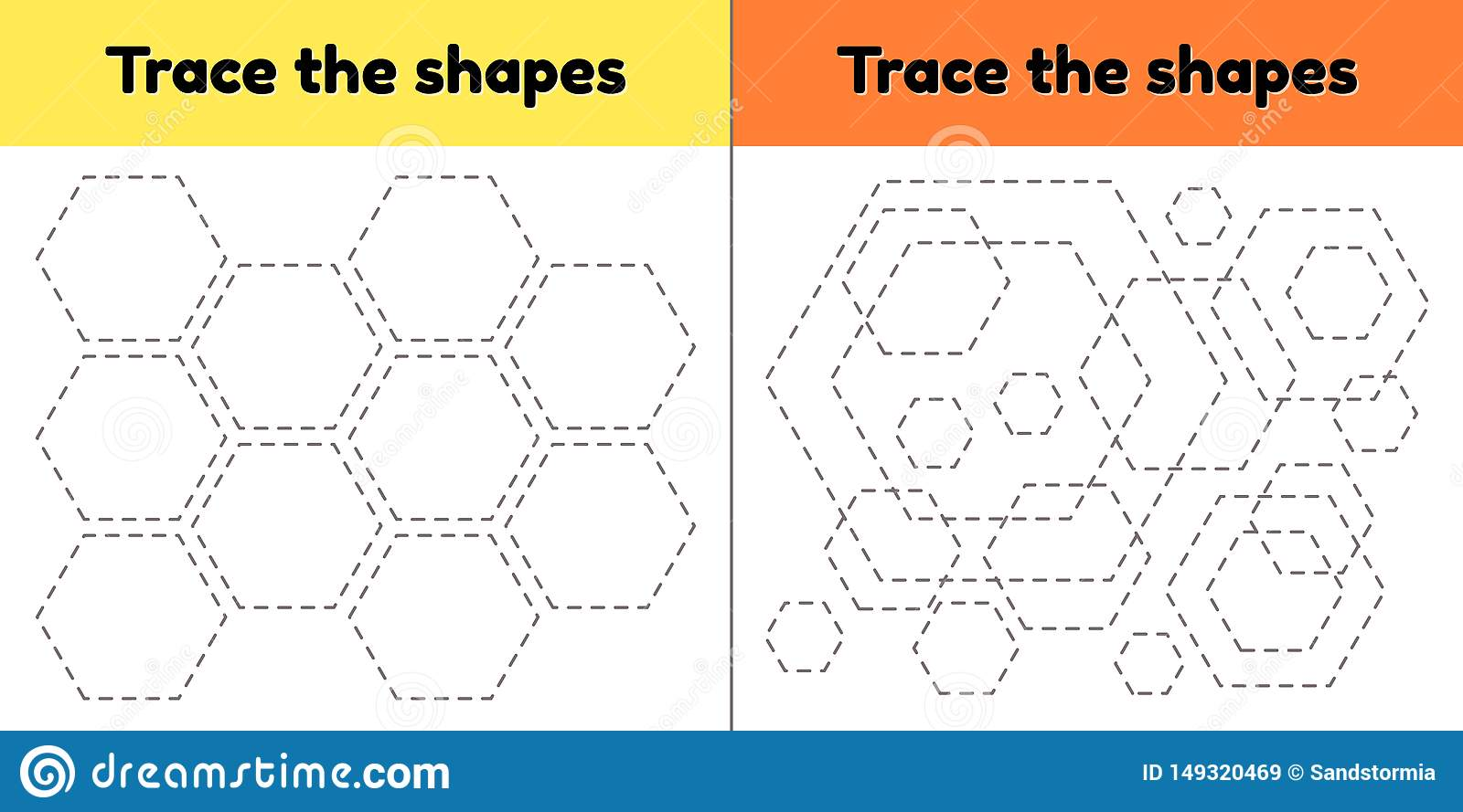 Educational Tracing Worksheet For Kids Preschool And