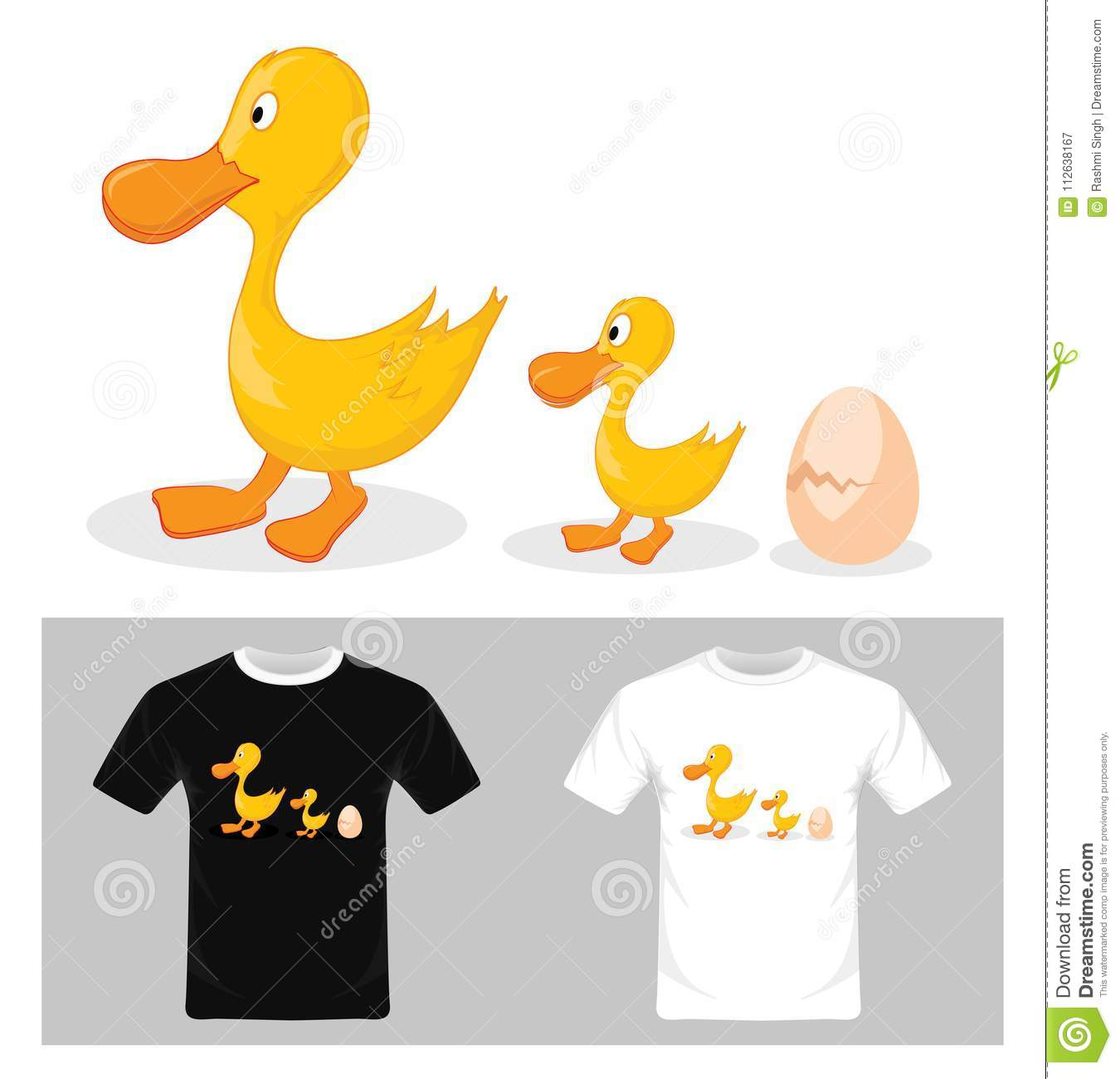 Vector Of Life Cycle Of A Duck T Shirt Graphic Design