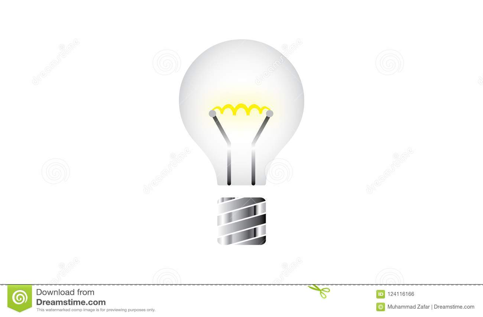 Shining Light Bulb Icon Vector Illustration