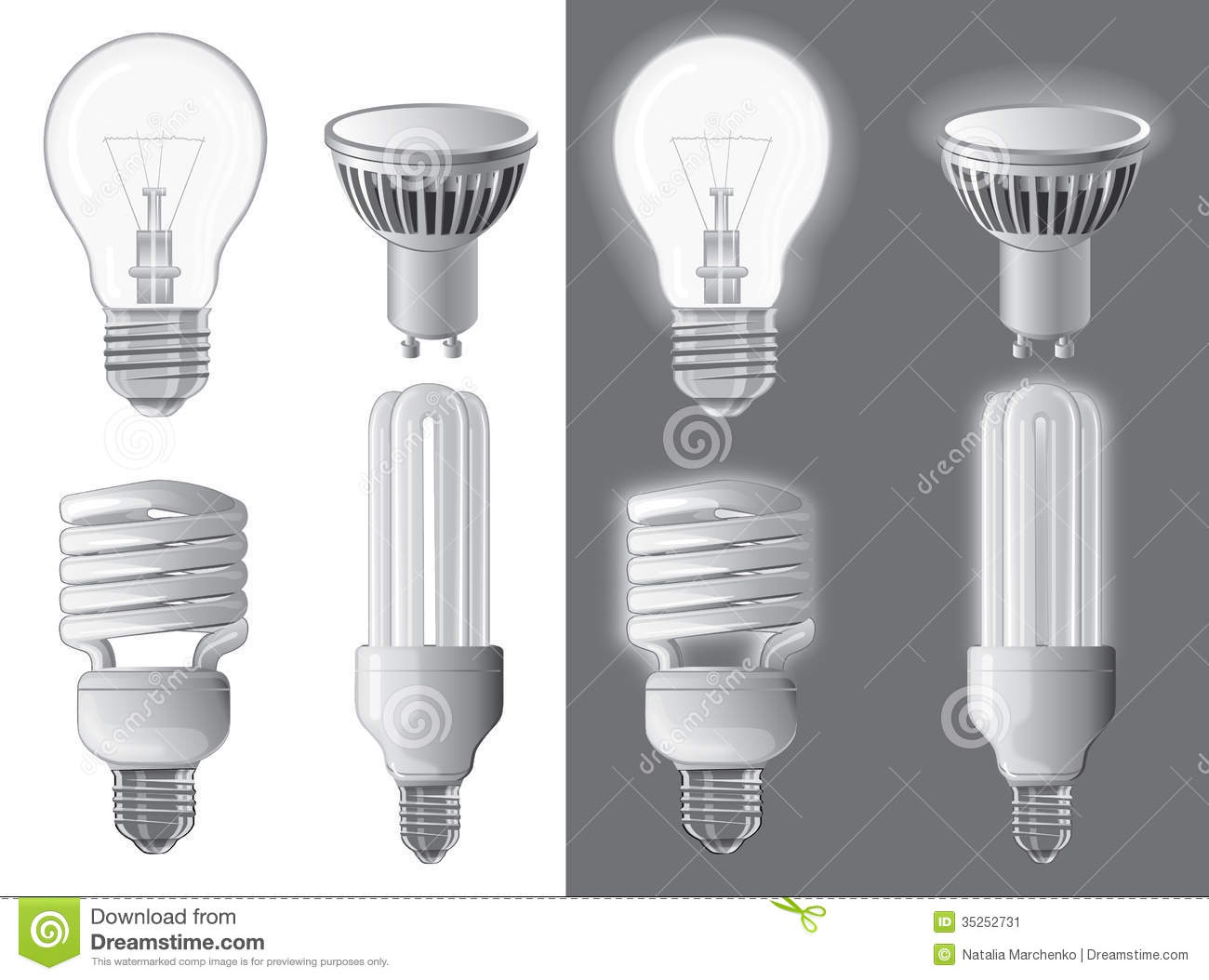 Vector Illustration Of Light Bulbs Stock Image Image