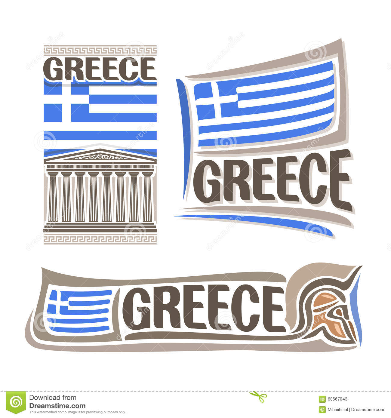 Vector Illustration Of The Logo For Greece Stock Vector