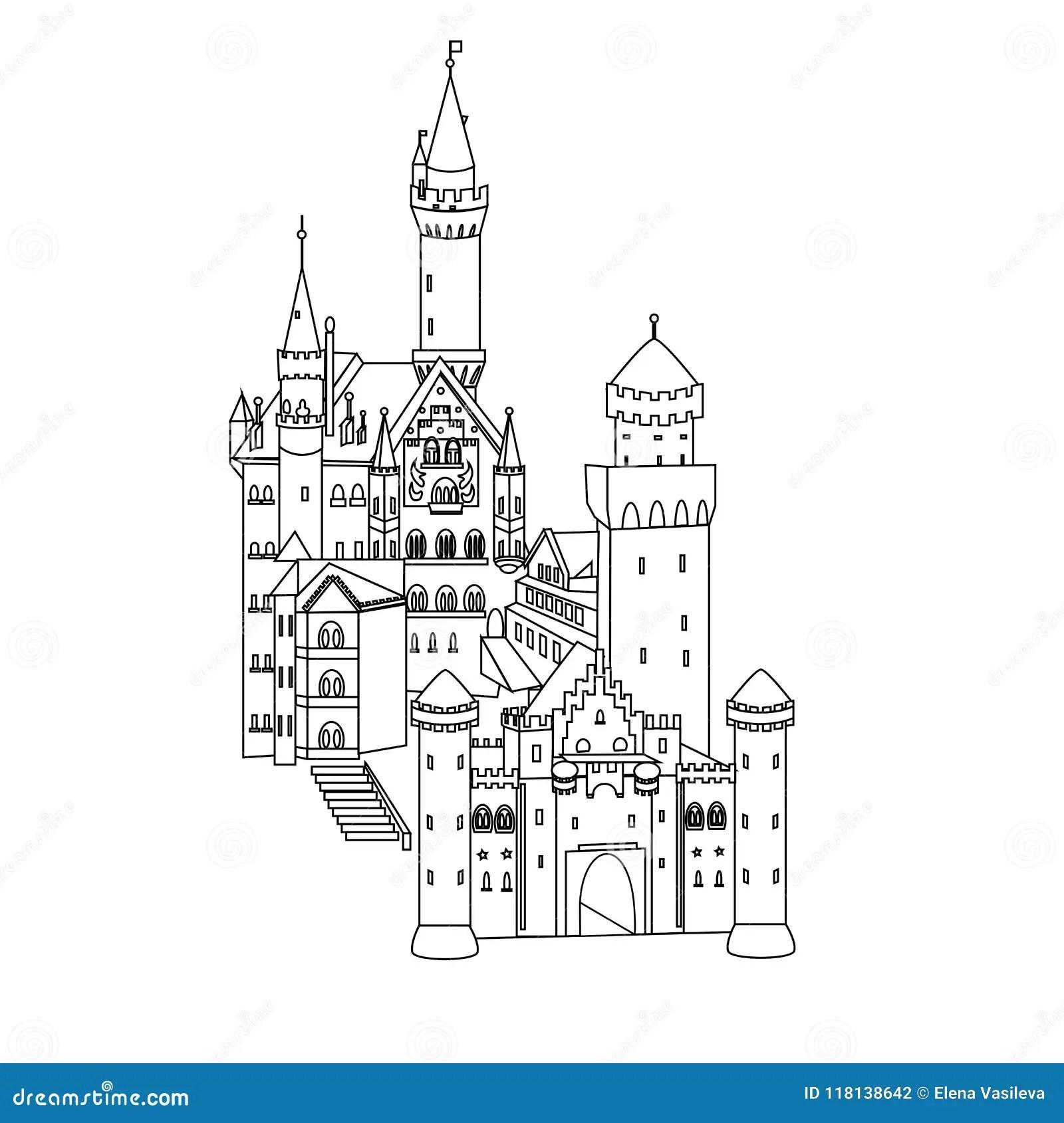 Neuschwanstein Castle Germany Stock Illustrations 70 Neuschwanstein Castle Germany Stock