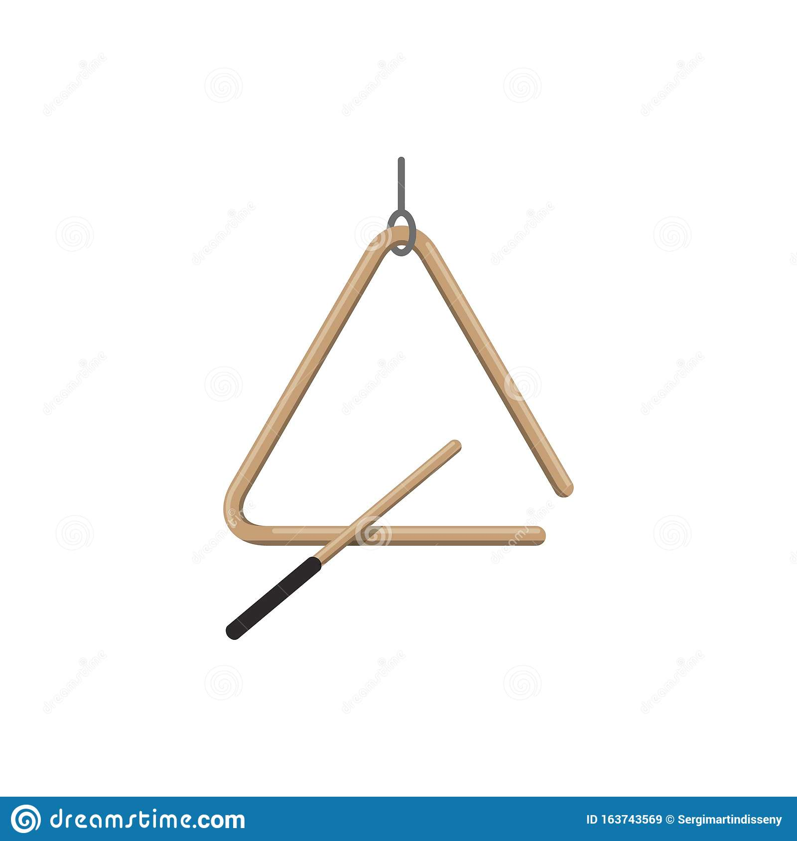 Percussion Triangle Musical Instrument Vector