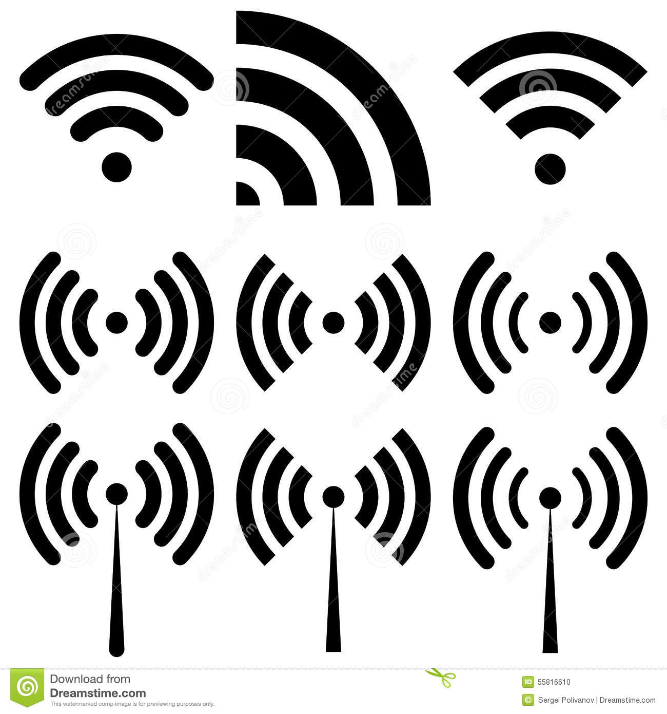 Vector Illustration Of Wi Fi Flat Design Vector