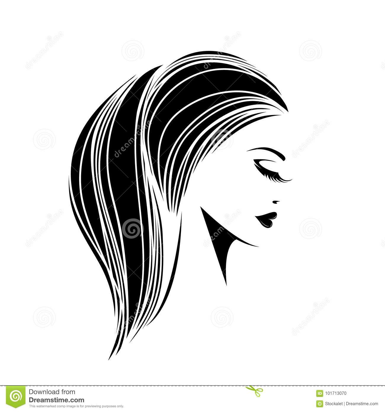 Beautiful Woman With Ponytail Hairstyle And Elegant Makeup