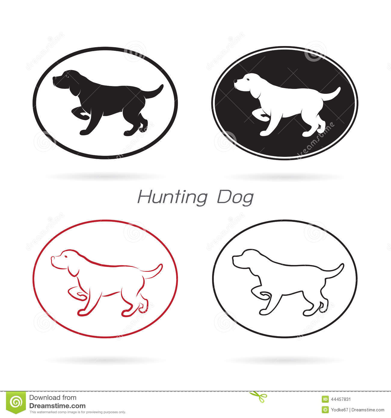 Vector Image Of An Dog Hunting Stock Vector