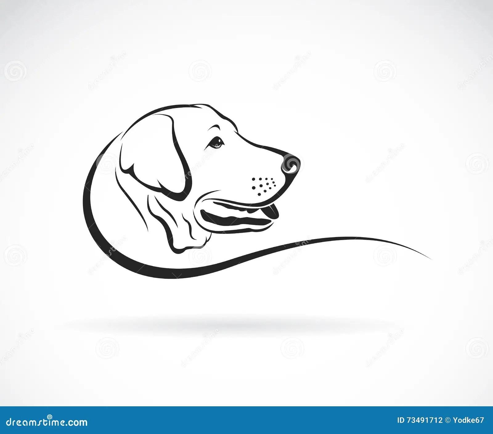 Vector Image Of A Dog Head Cartoon Vector