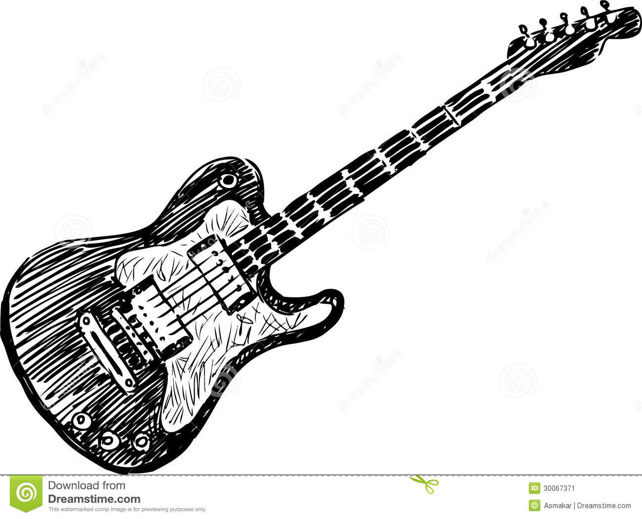 Electric Guitar Stock Image Image Of Audio Making