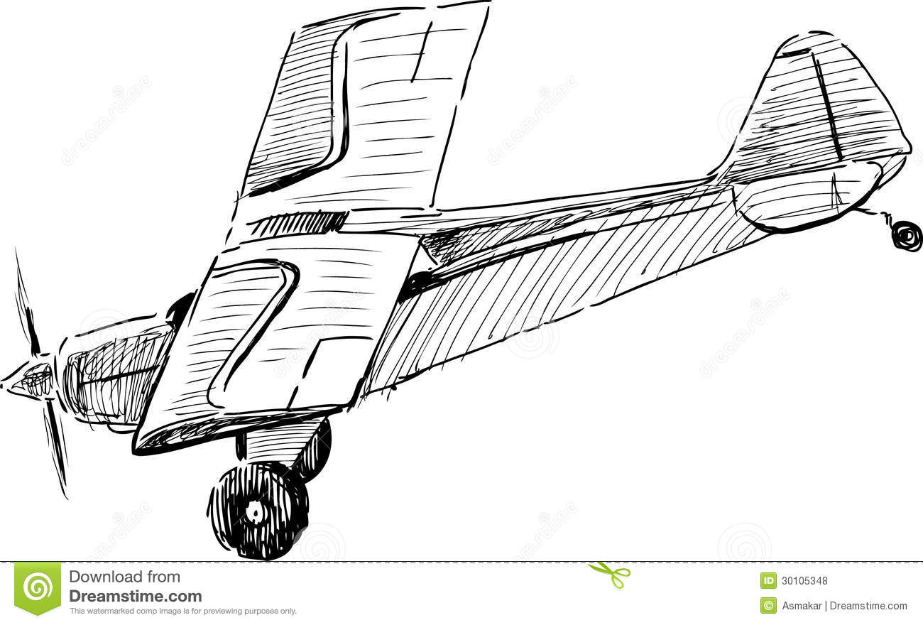 Flying Old Airplane Stock Vector Image Of View Flights