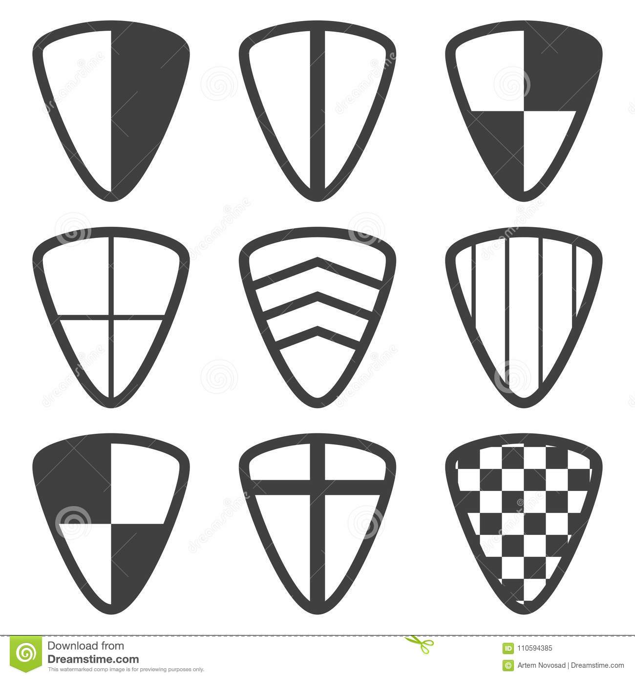 Shield Coat Of Arms Collection Security And Shield Logo
