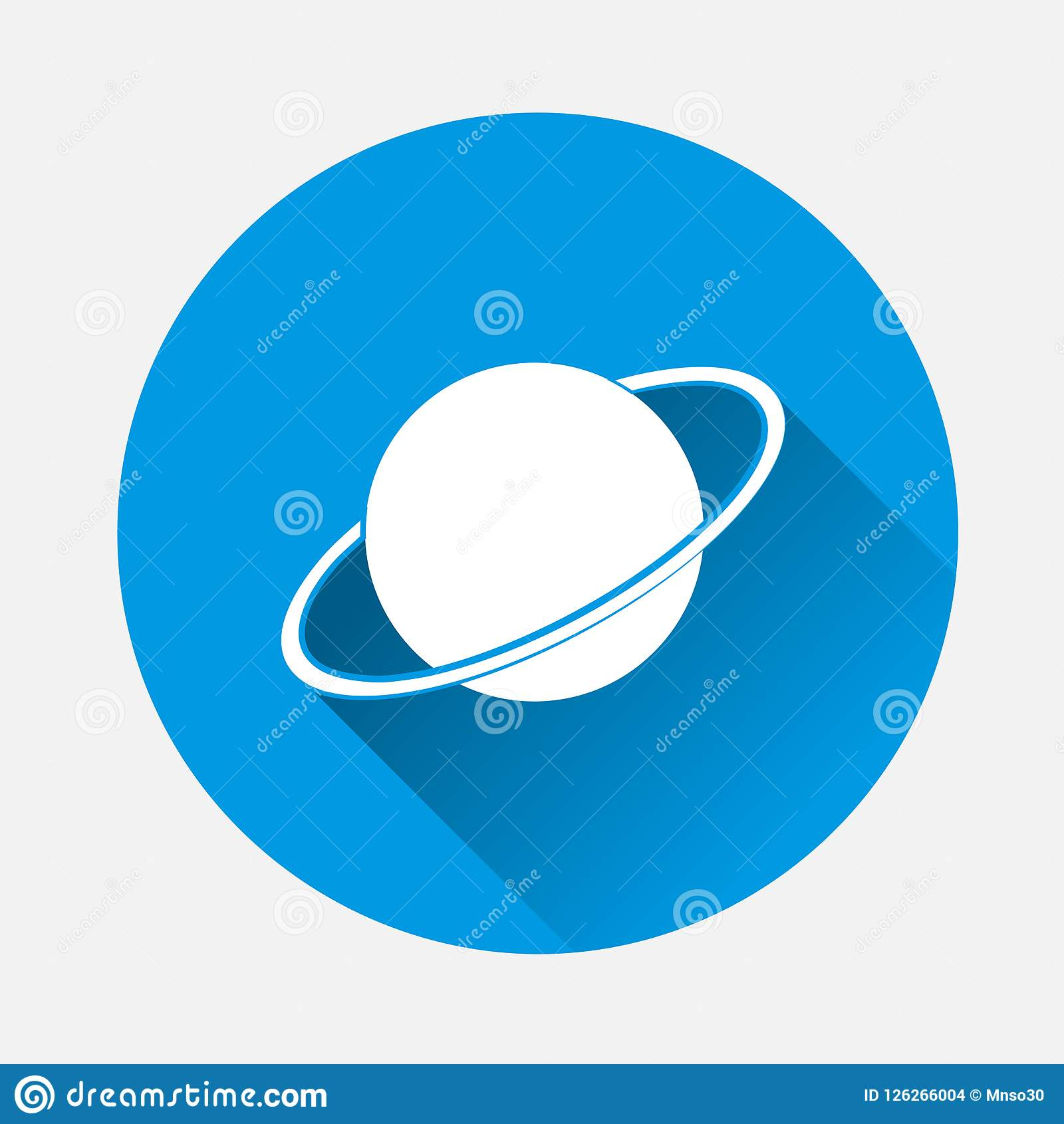 Easy Saturn Maze Vector Illustration