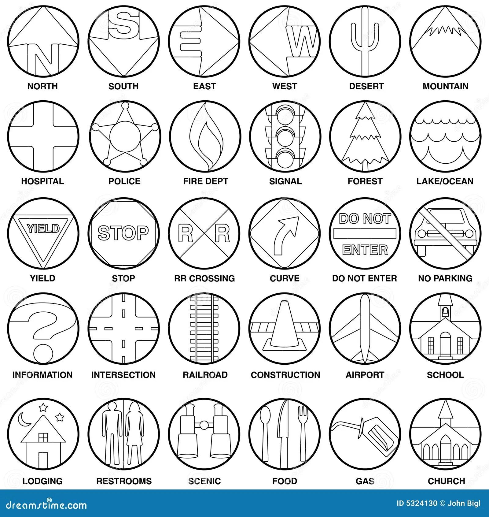 Vector Kaartpictogrammen