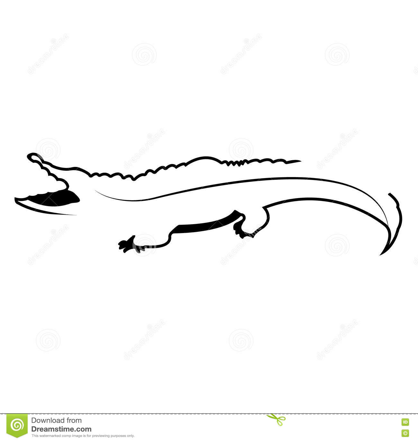 Vector Logo Crocodile Brand Color Silhouette Icon Stock