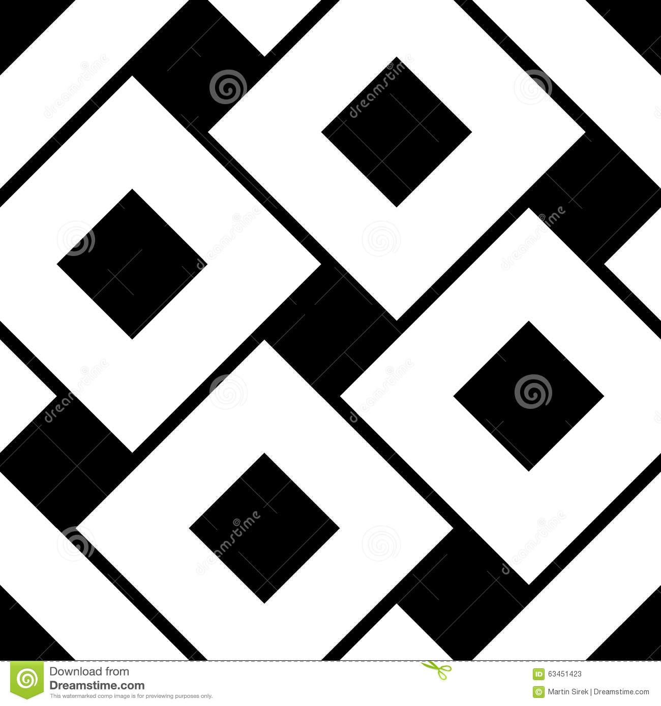 Vector Modern Seamless Geometry Pattern Squares Black And