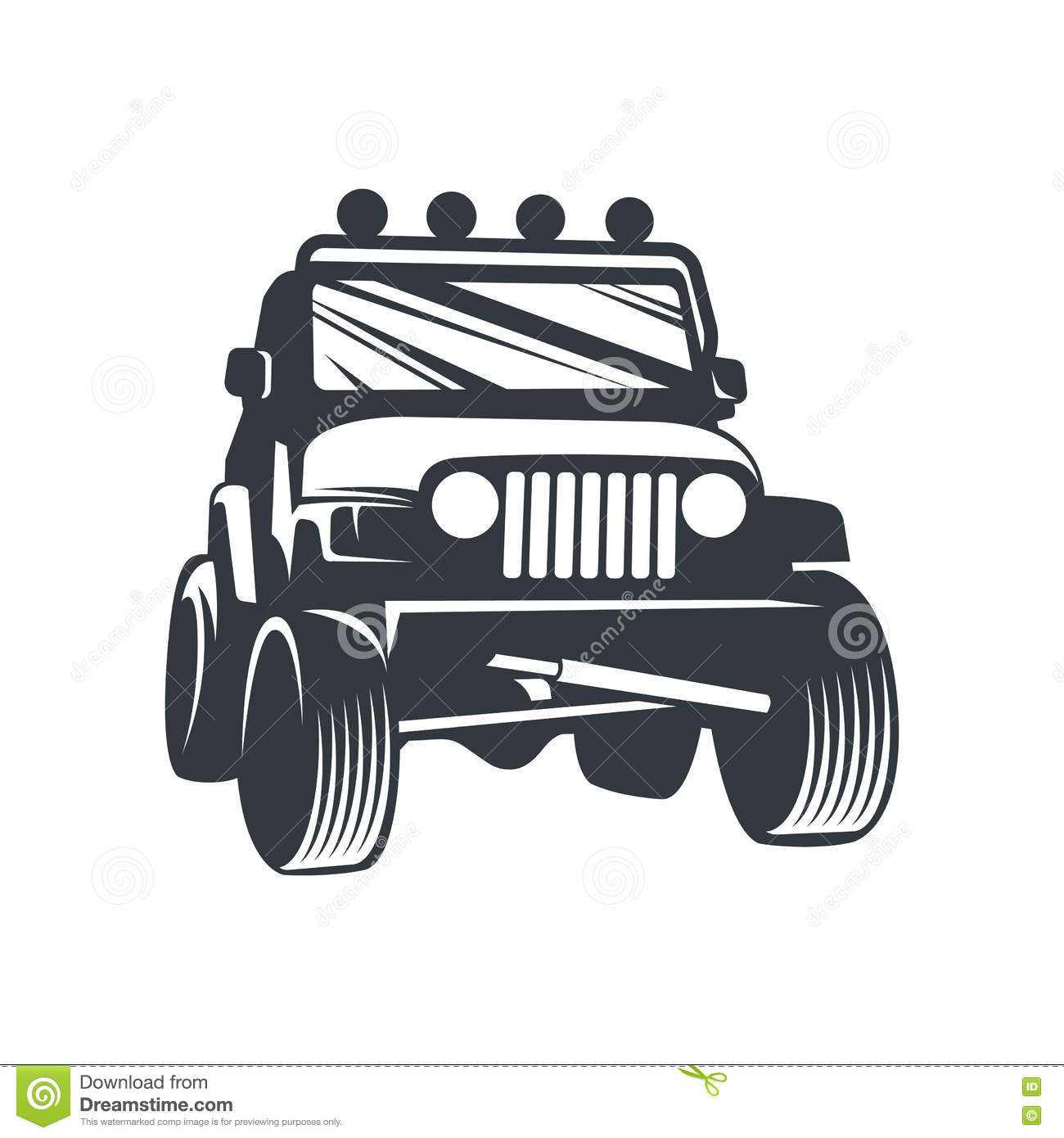 Vector Offroad Car4 Stock Vector Illustration Of Offroad