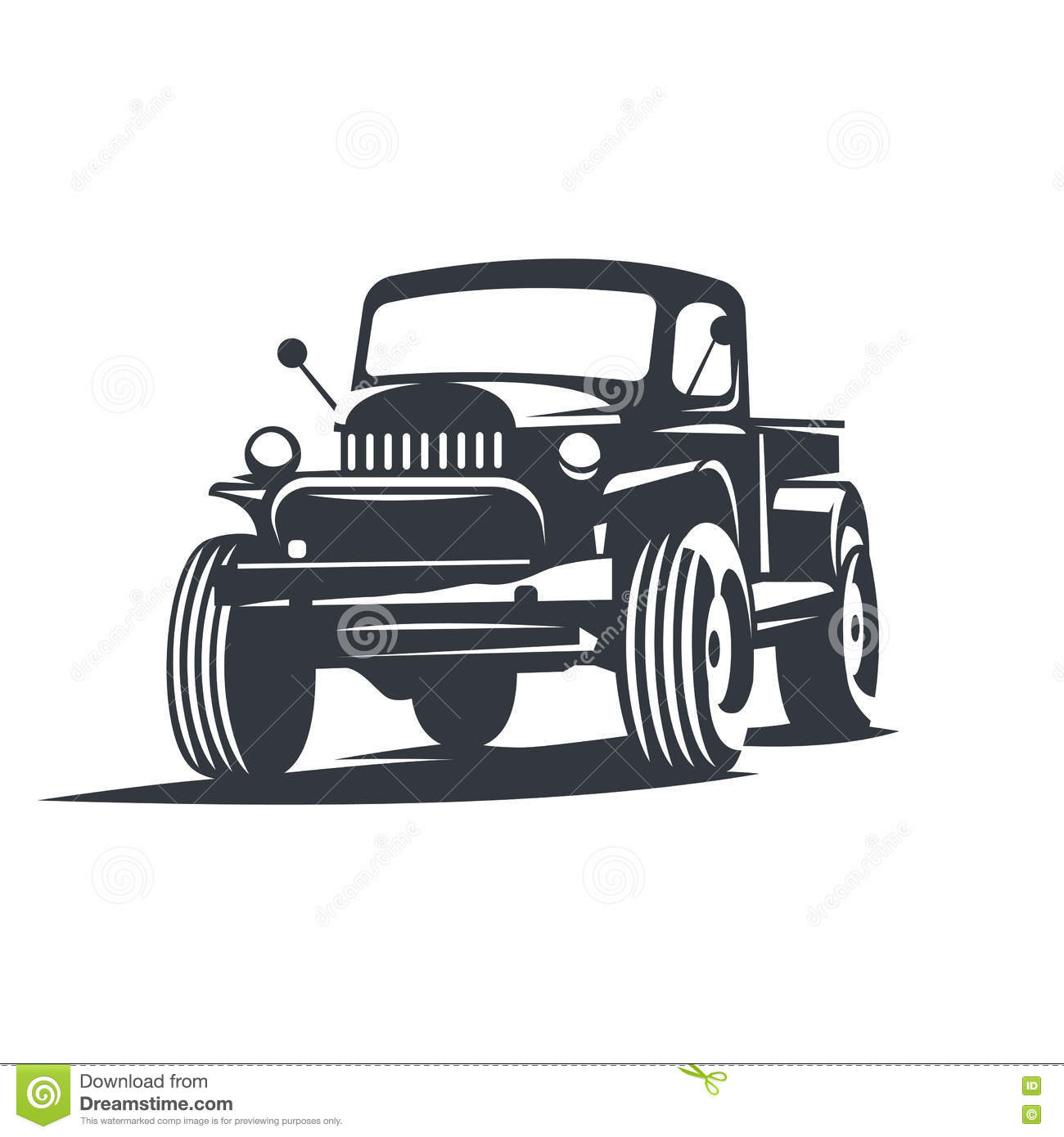 Vector Offroad Truck Stock Vector