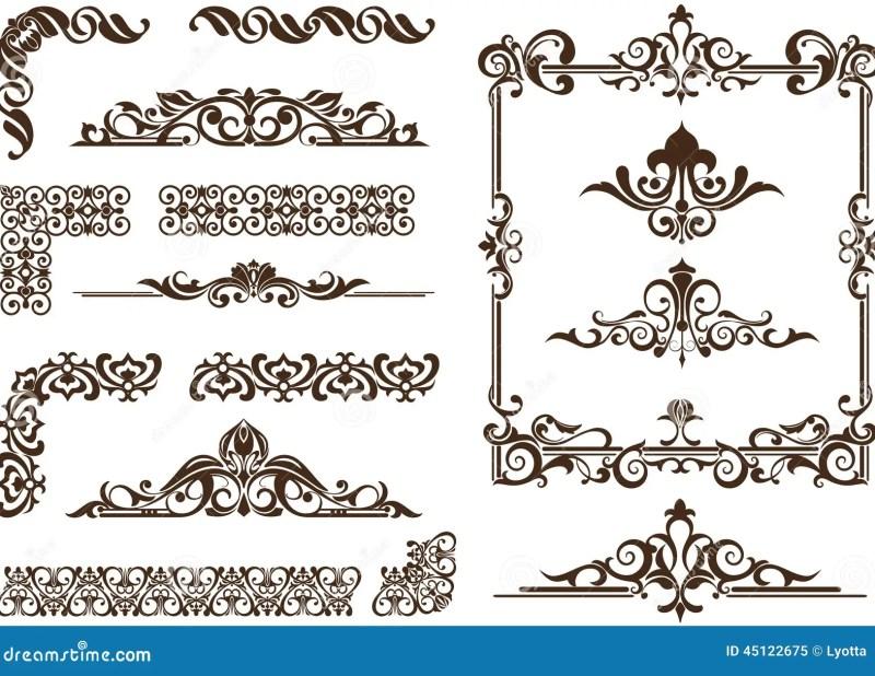Vector Ornaments Frames Corners Borders