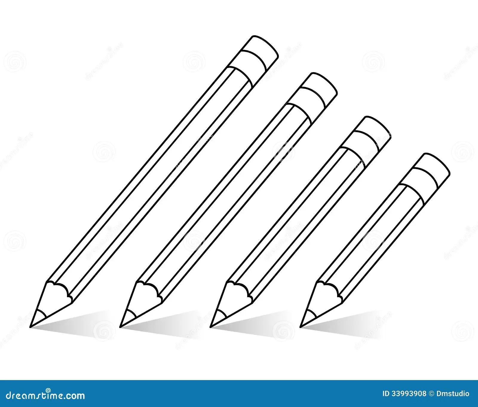 Vector Pencils Royalty Free Stock Photos