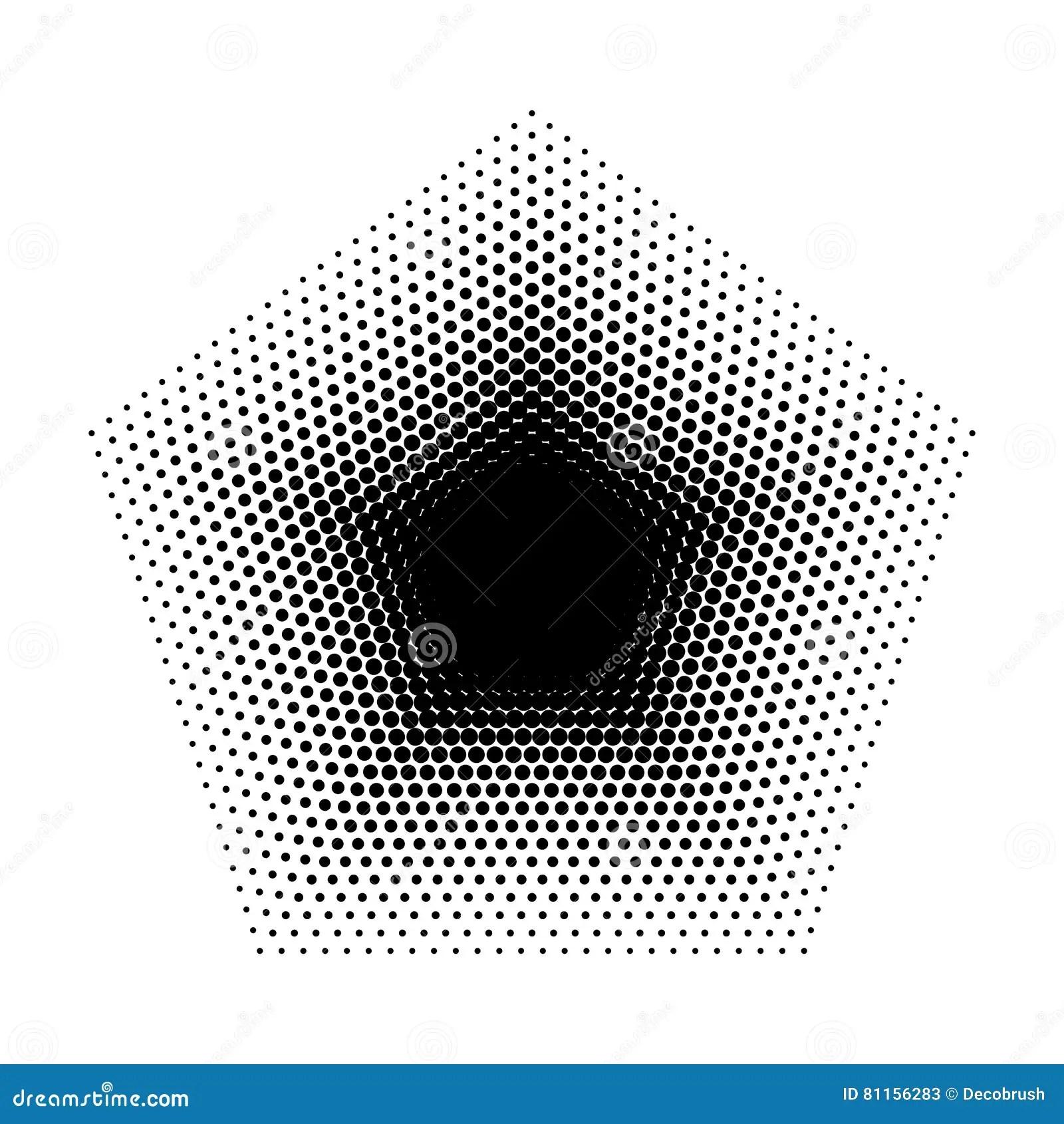 Vector Pentagon Halftone Geometric Shapes Five Angles