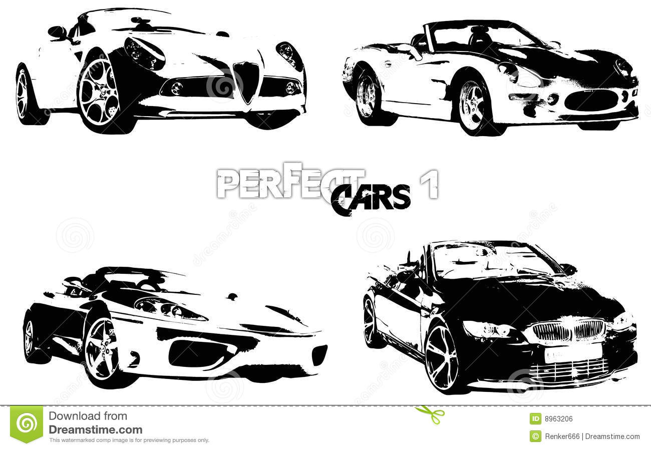 Vector Perfect Cars 1 Stock Vector Illustration Of Power