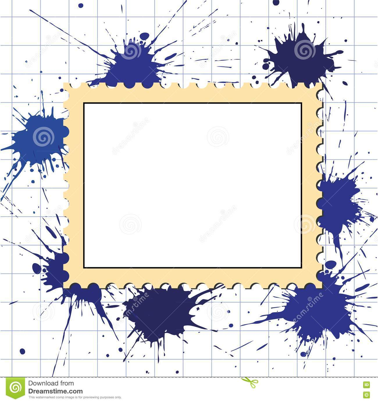 Vector Postage Stamps Frame Pattern Stock Vector