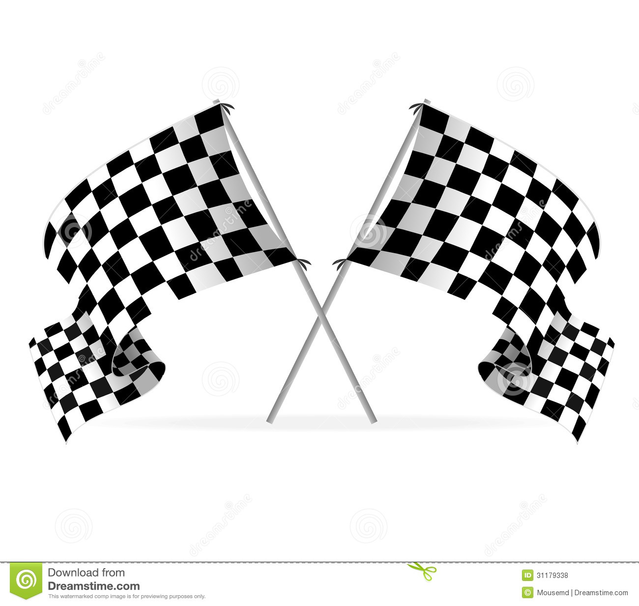 Vector Racing Flags Royalty Free Stock Photos