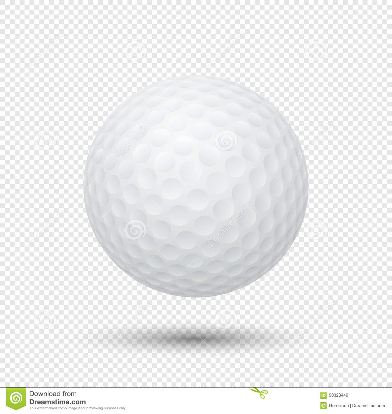 Golf Ball Closeup Stock Photo