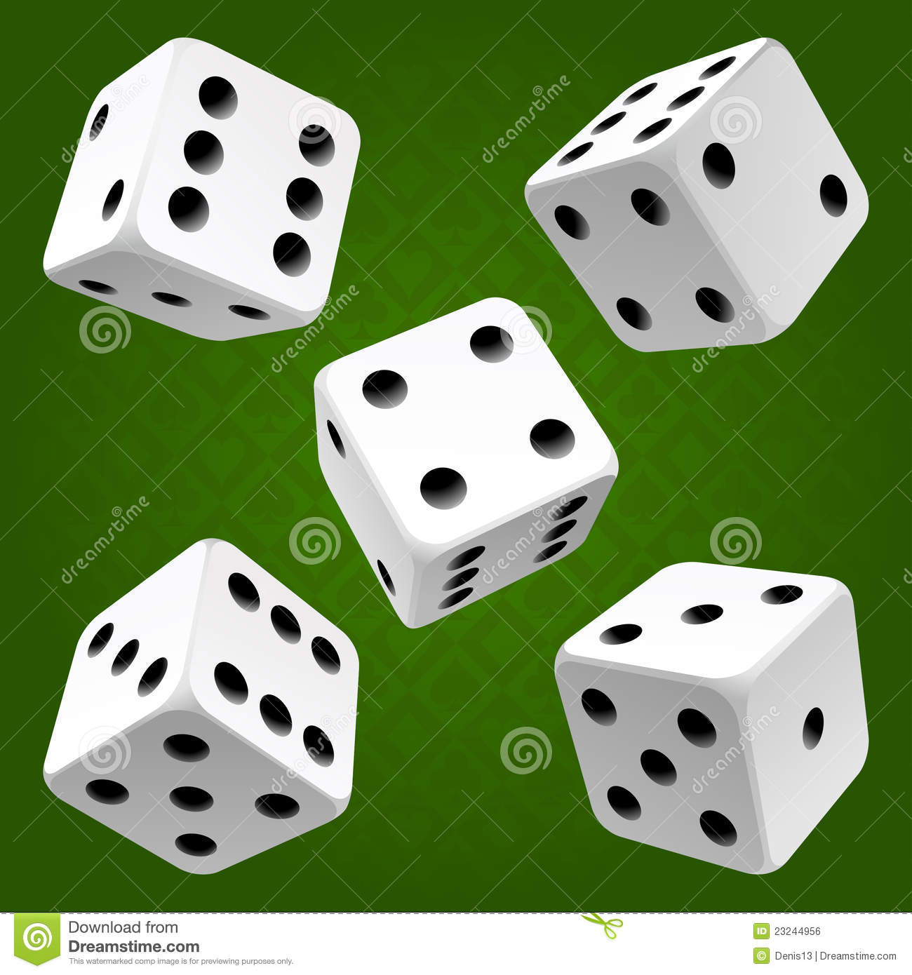 Vector Rolling White Dice Set Royalty Free Stock Image Image 23244956