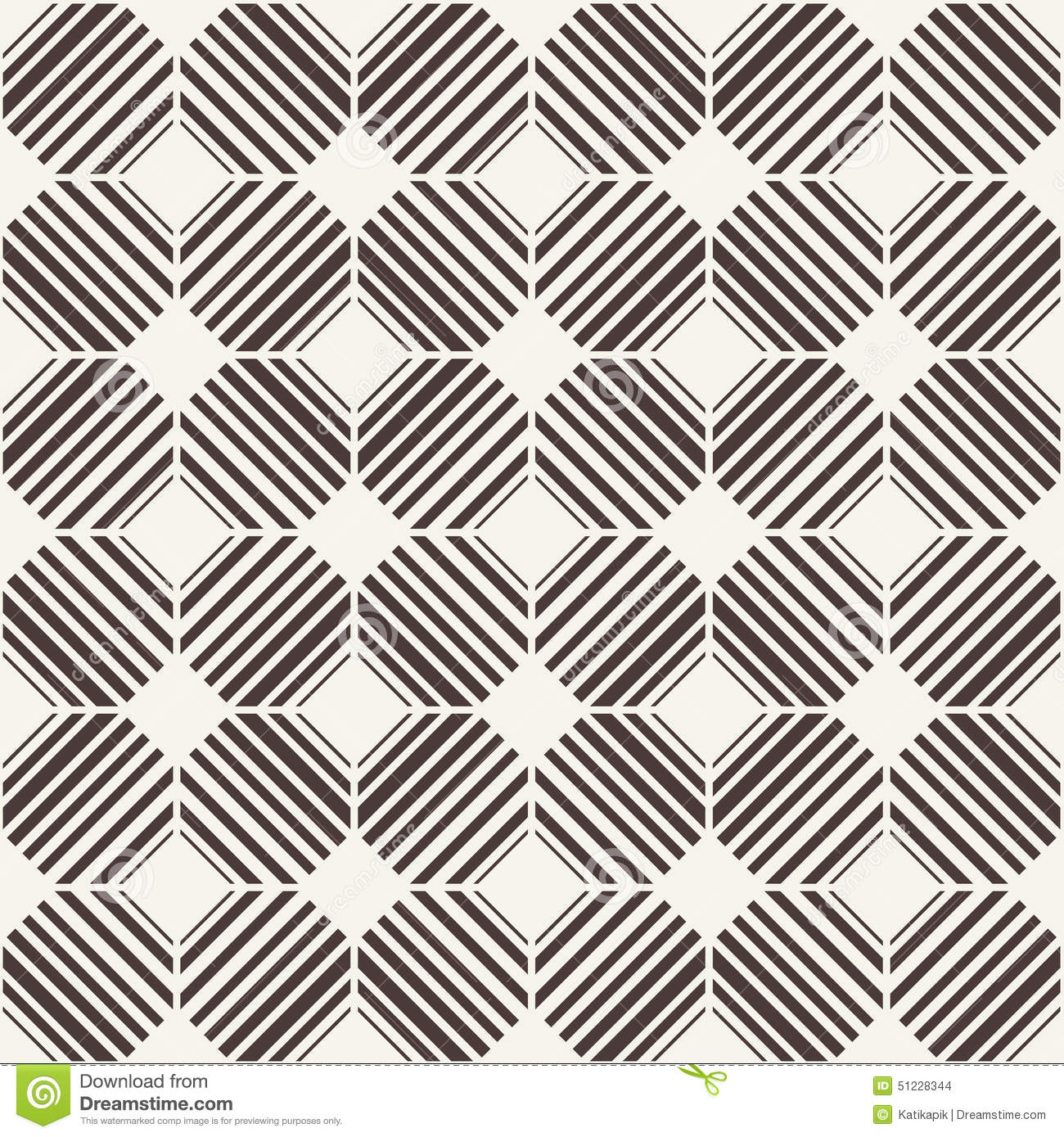 Vector Seamless Pattern Black And White Abstract Background Stock Vector