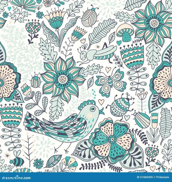 Vector Seamless Pattern, Doodling Design. Hand Draw ...