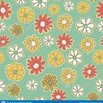 Vector Seamless Pattern With Flowers Of Doodles Background Simple Romantic Color Floral Background In Hand Drawn Stock Vector Illustration Of Doodle Beauty 135132551