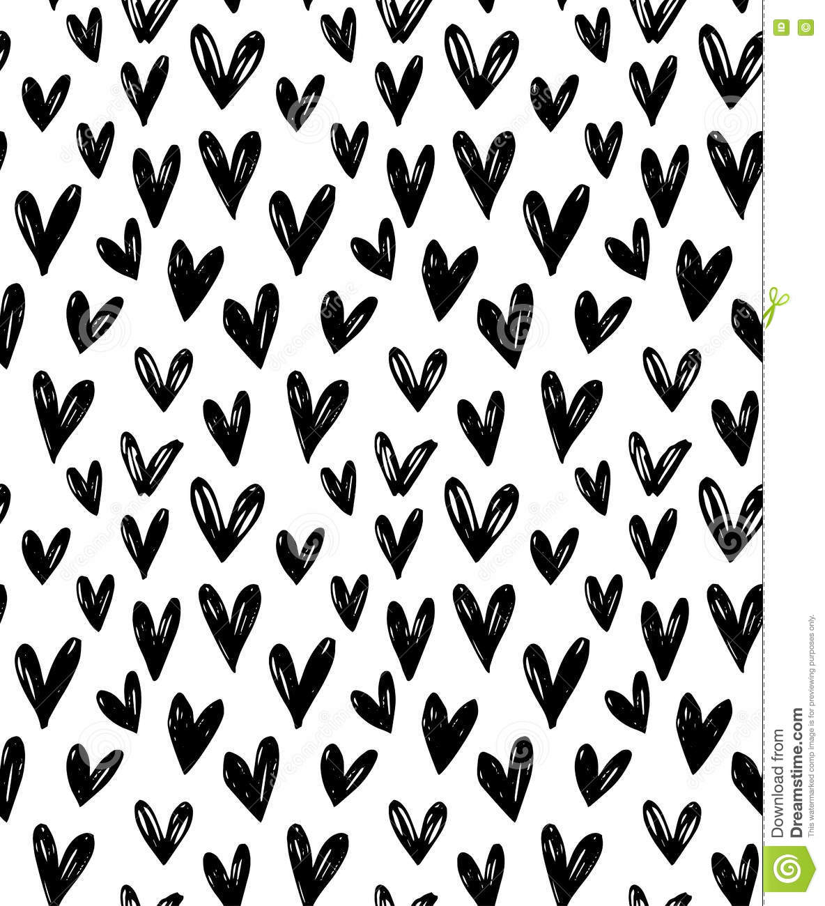 Vector Seamless Pattern With Hand Drawn Doodle Black Small