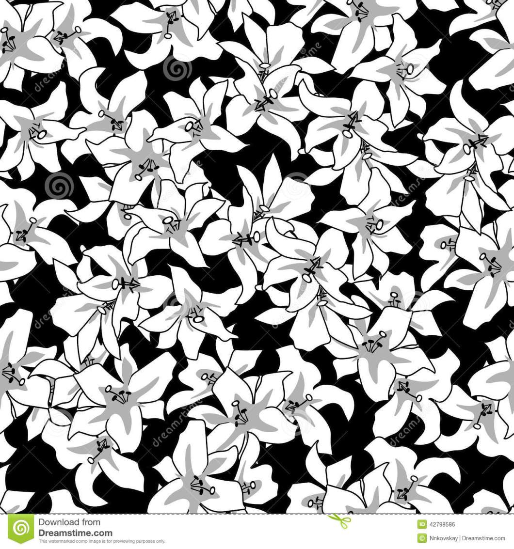 Vintage Flowers Wallpaper Black And White Imagewallpapers