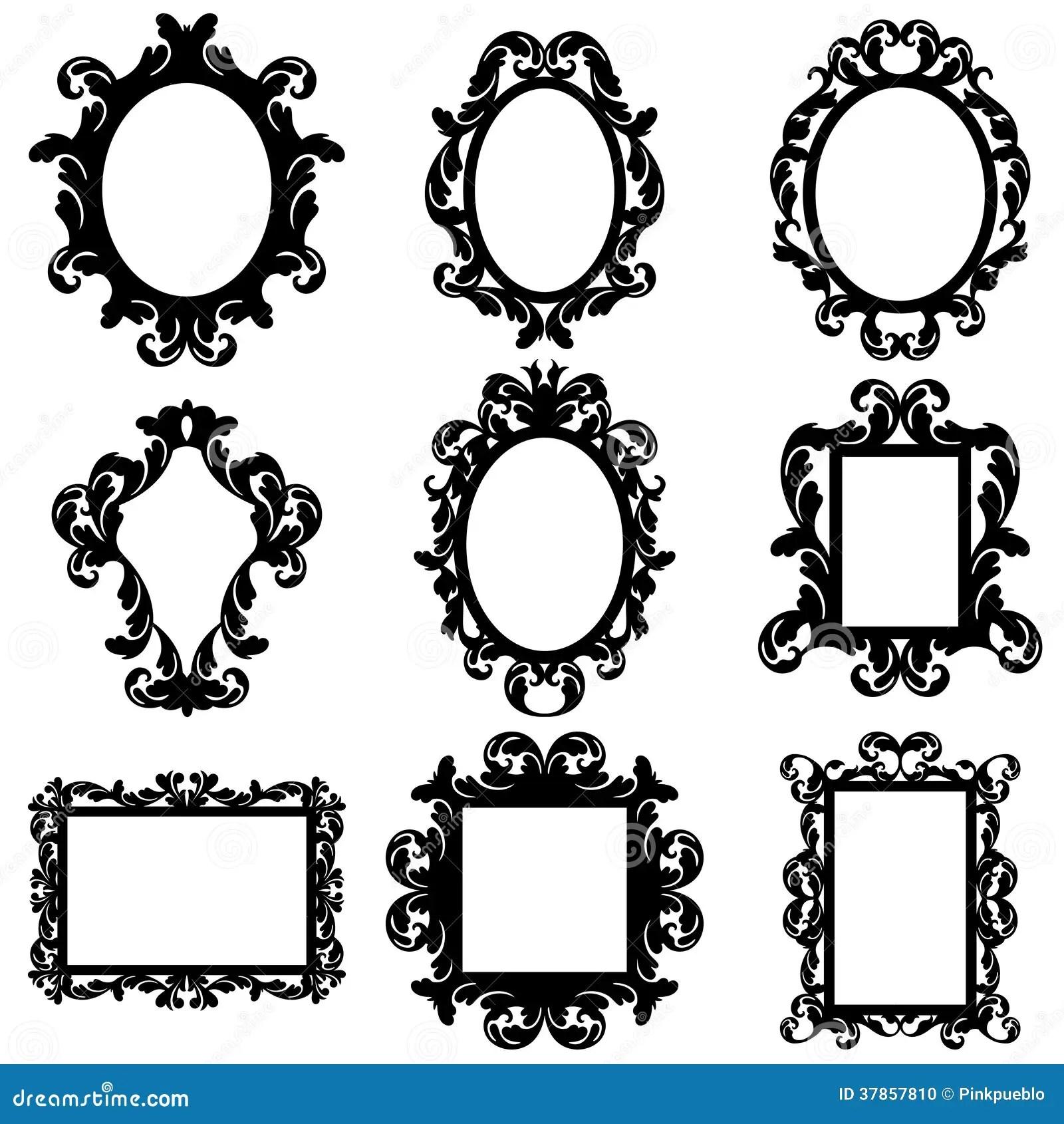 Fancy Monogram Frames Svg Silhouette