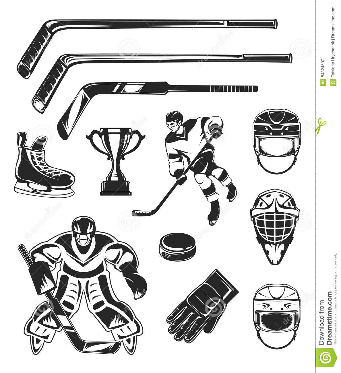Ice Skate Black And White Vector Icon Vector