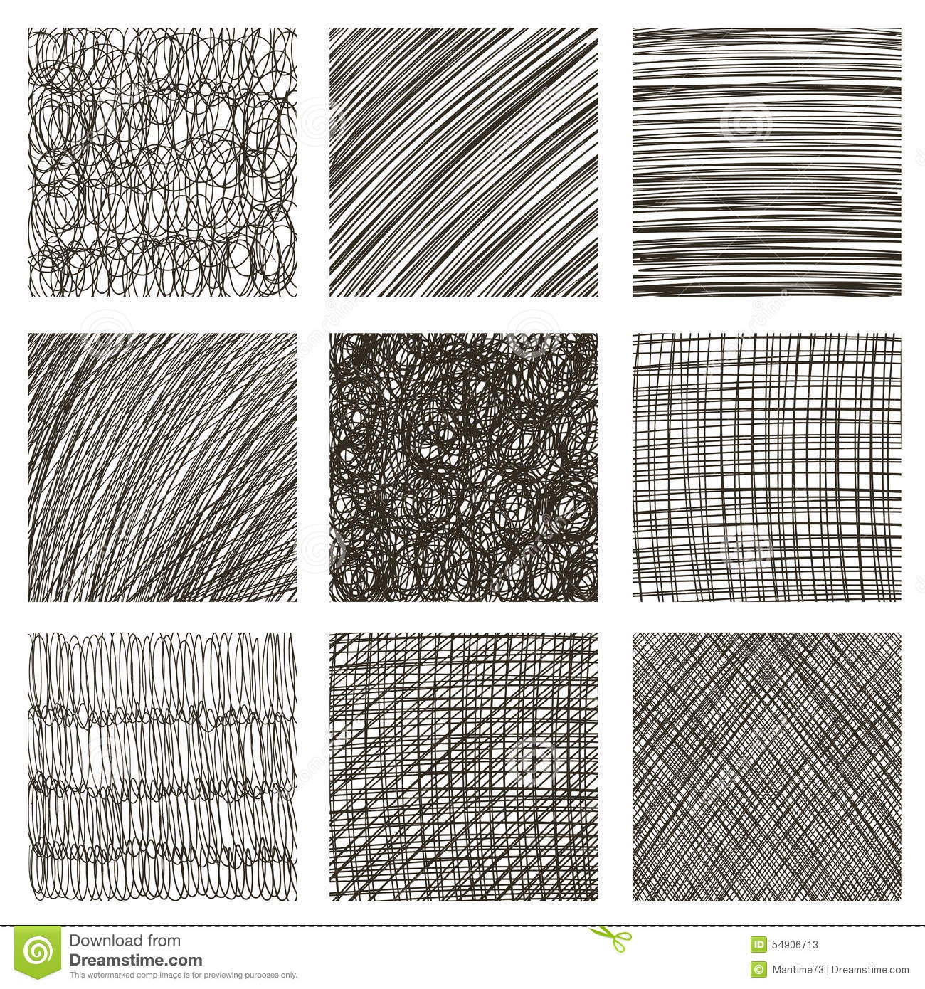 Vector Set Of Hand Drawn Squares Sketch Set Of Textures