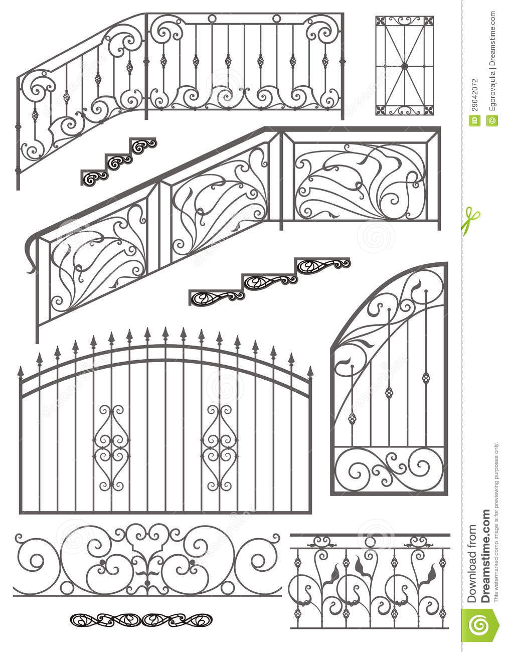 Image Result For Wrought Iron Fence Designs