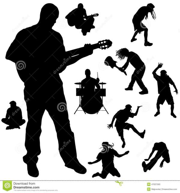 Vector Silhouette Of The Band. Vector Illustration ...