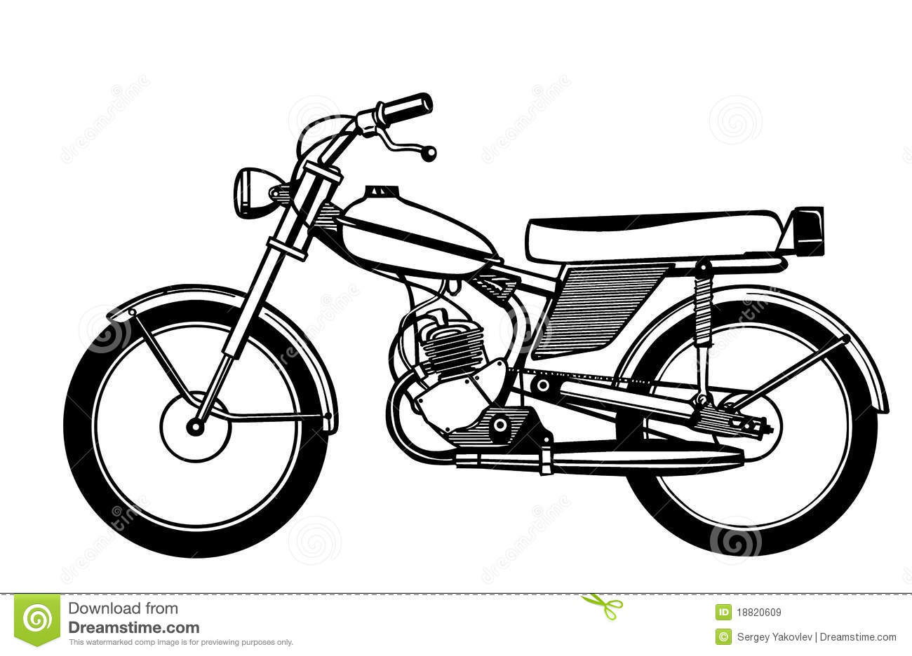 Vector Silhouette Moped Stock Vector Image Of Light