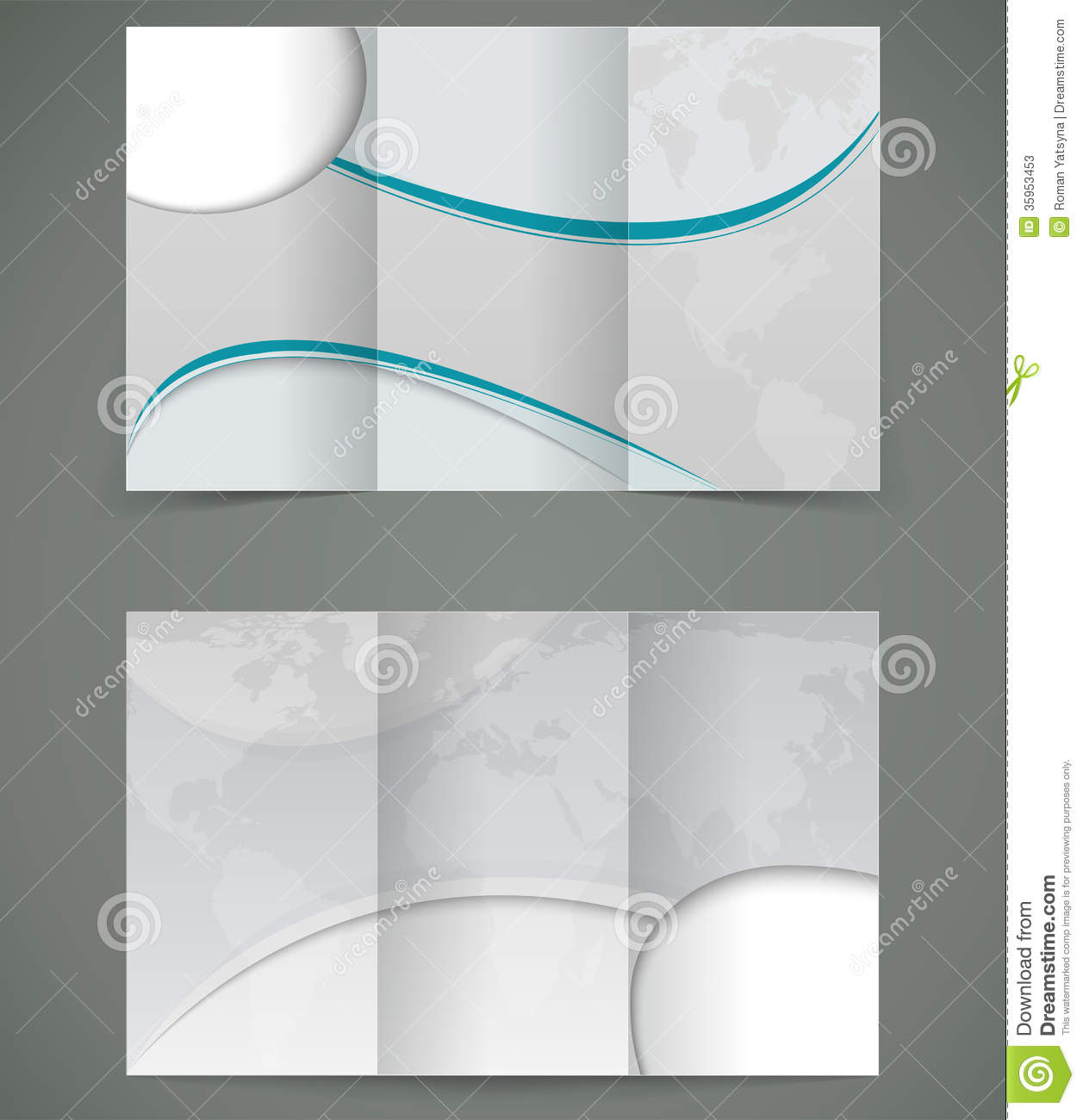 Vector Silver Brochure Layout Design Business Thr Stock Photos Image 35953453