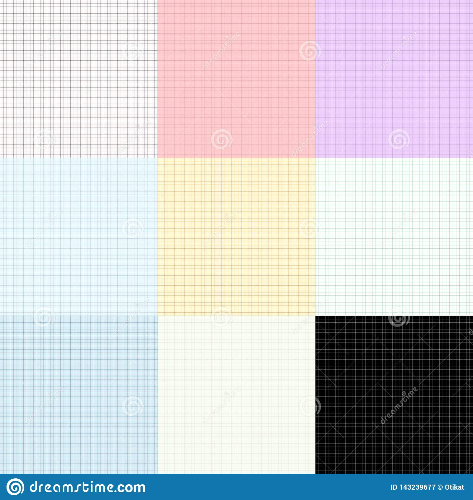 Vector Simple Graph Paper Seamless Background Stock