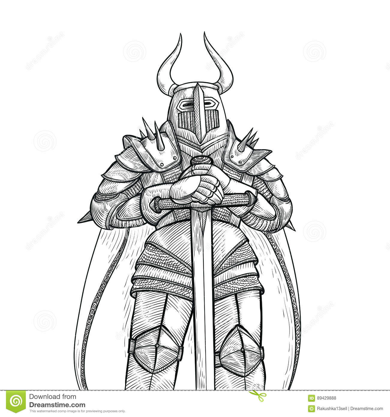Me Val Knight Armor And Weapon Royalty Free Stock Image