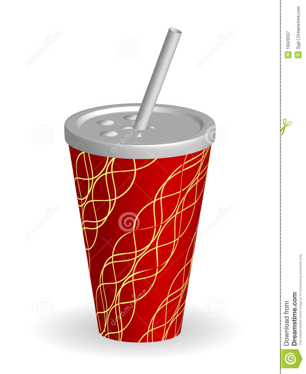 Vector Soda Cup With Straw Royalty Free Stock Photography